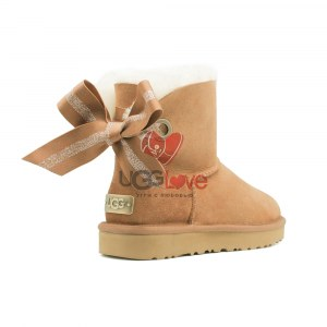 Купить Угги Мини Bailey Bow Customizable - Chestnut фото 1