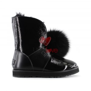 Купить ISLEY PATENT WATERPROOF BOOT - Black фото 1