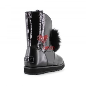 Купить ISLEY PATENT WATERPROOF BOOT - Black фото 2